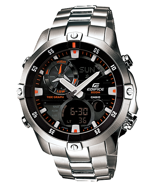 How to set time on Edifice EMA-100