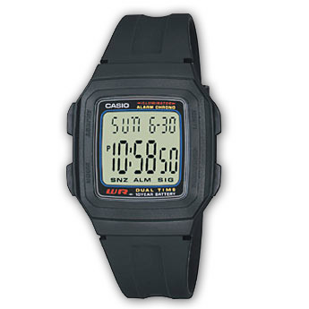 How to set time on Casio F-201