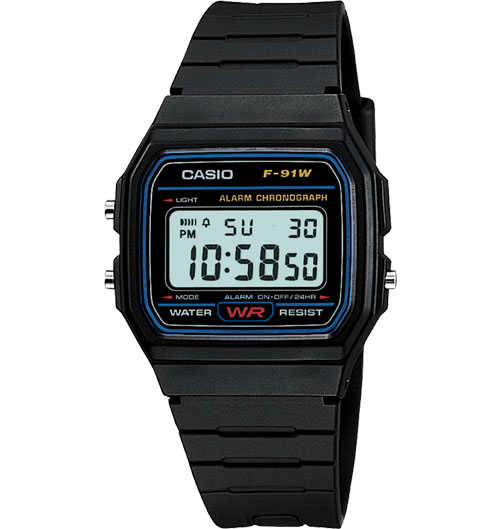 How to set time on Casio F-91