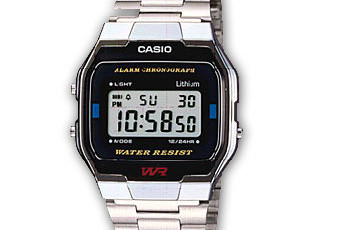 How to set time on Casio A163WA