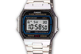 How to set time on Casio A164WA