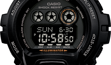 casio g shock instructions change time