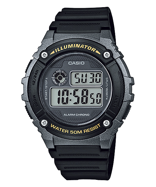 How to set time on Casio W-216
