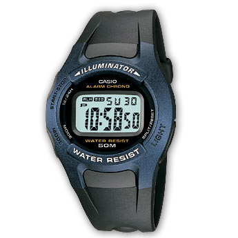 How to set alarm on Casio W-43