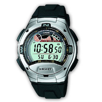 How to set time on Casio W-753