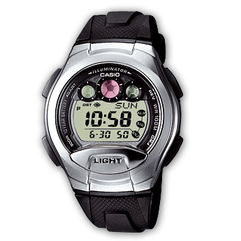 How to set alarm on Casio W-755