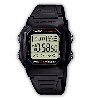 How to set alarm on Casio W-800