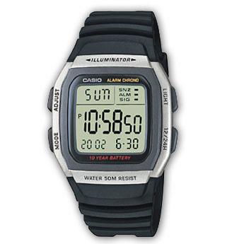 How to set alarm on Casio W-96