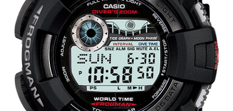 Digital G-Shocks with Diving Functions