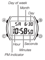 How to set time on Casio W-202