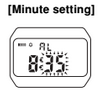 How to set alarm on Casio W-59