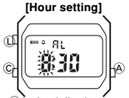 How to set alarm on Casio A158WEA