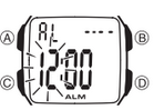How to set alarm on Casio F-201