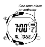 How to set alarm on Casio STR-300