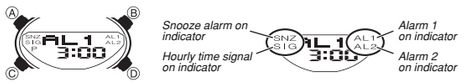 How to set alarm on Casio AW-80