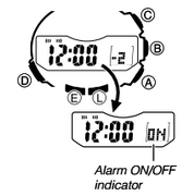How to set alarm on ProTrek PRG-550