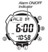 How to set alarm on ProTrek PRW-2000T