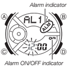 How to set alarm on Baby-G BA-110BC