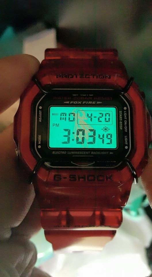 [Live Photos] G-Shock Red Jelly DW-5600