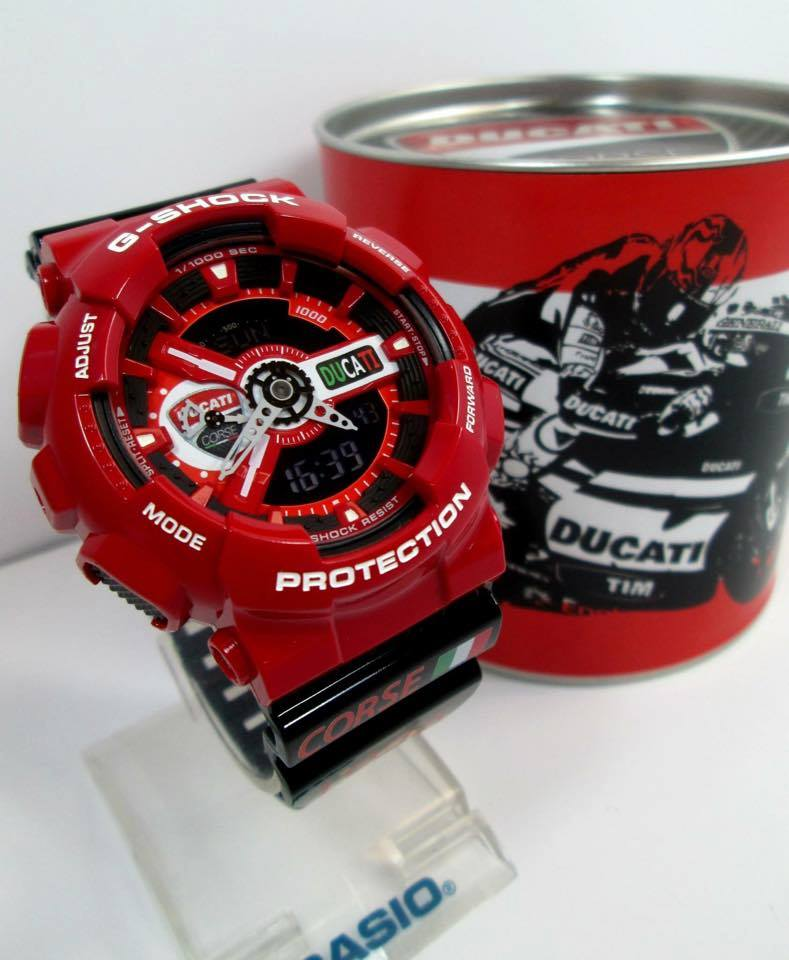 [Live Photos] G-SHOCK GA-110 Custom Ducati