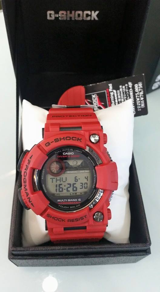 [Live Photos] G-Shock Men in Burning Red GWF-1000RD-4JF
