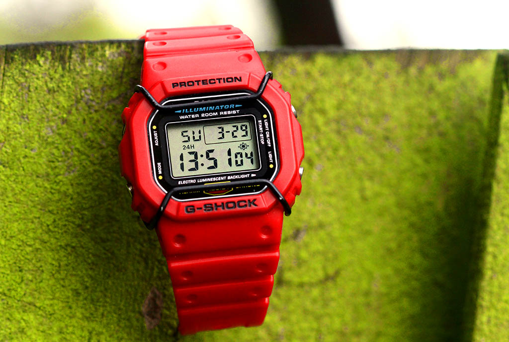 [Live Photos] G-Shock Red DW-5600E with Bull Bars