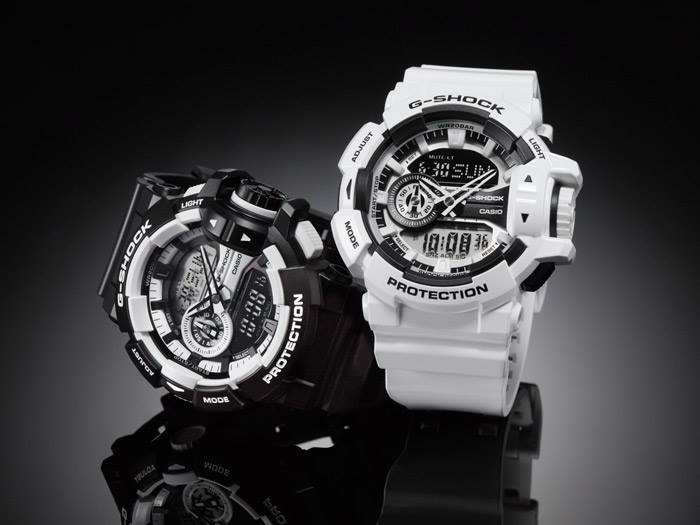 [Live Photos] G-Shock black & white GA-400-7A