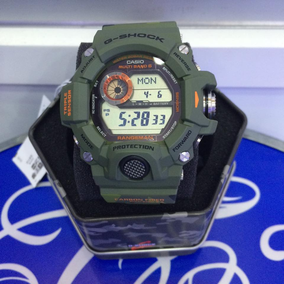 [Live Photos] G-shock Rangman Men in Camo GW-9400CMJ-3ER