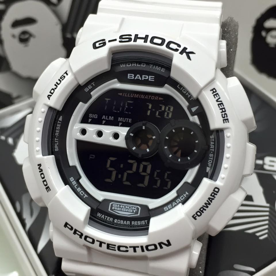 [Live Photos] G-Shock GD-100 Bape Limited