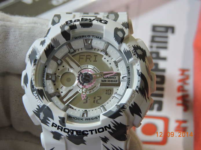 [Live Photos] Baby-G BA-110LP-7AJF White Leopard Series