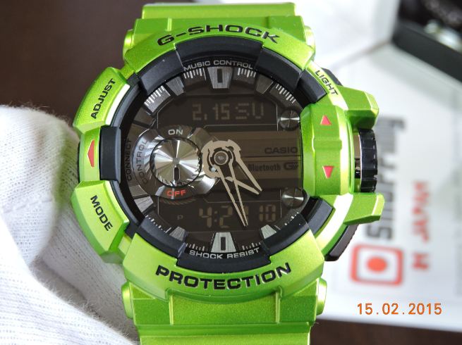 how to connect g shock gba 400 bluetooth