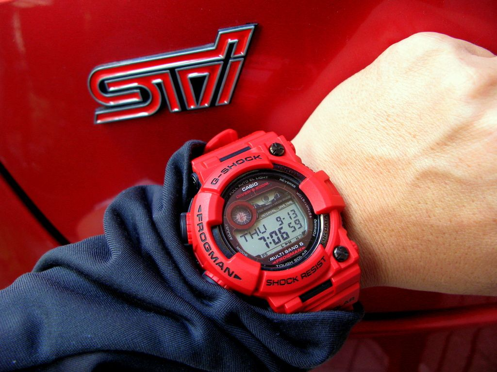 [Live Photos] G-Shock GWF-1000RD-4JF Frogman Burning Red