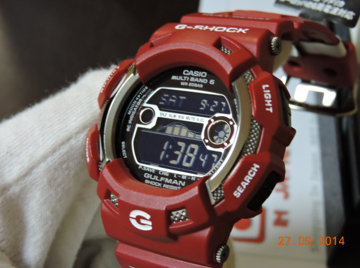 [Live Photos] G-Shock Gulfman GW-9110RD-4JF Men in Rescue Red