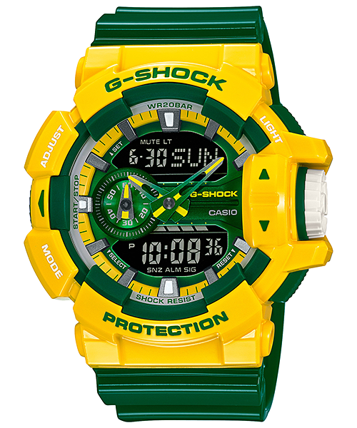[August 2015] G-Shock white-blue-orange GA-400CS-7A & yellow-green GA-400CS-9A