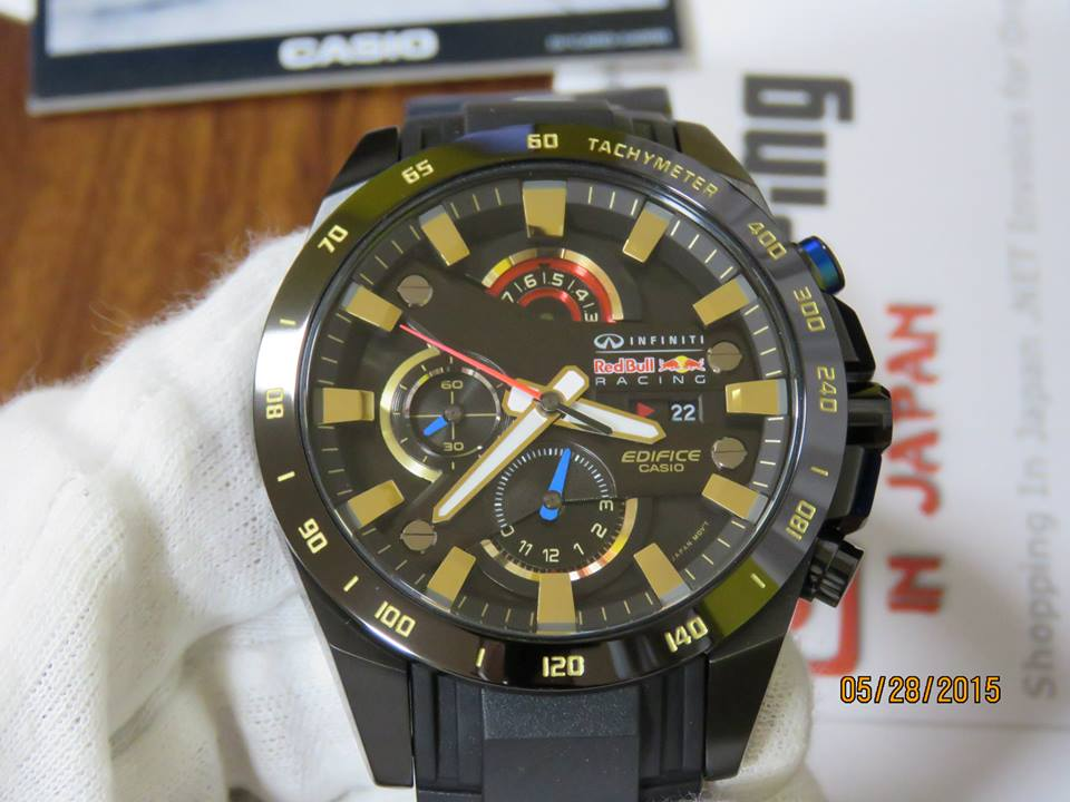 [Live Photos] Edifice Red Bull Limited EFR-540RBP