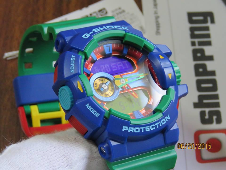 [Live Photos] G-Shock GA-400-2A Hyper Color Blue x Green