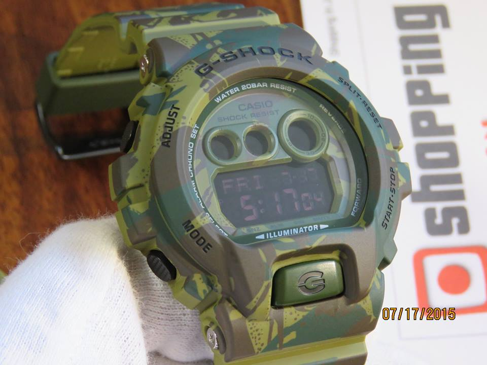 [Live Photos] G-Shock Woodland Green GD-X6900MC-3 Camouflage
