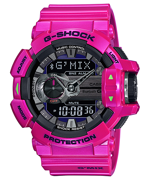 [October 2015] G-Shock blue, pink & white GBA-400