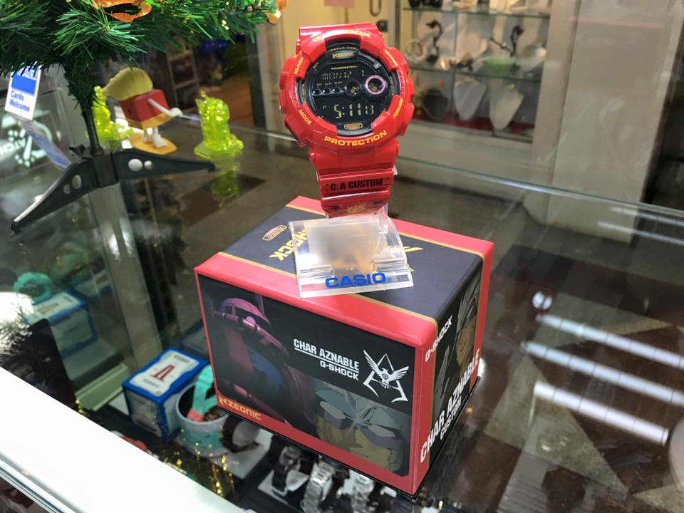 [Live Photos] G-Shock GD-100 Red Comet