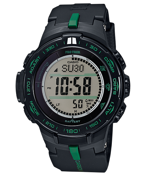 How to set alarm on ProTrek PRW-S3100 / Casio 3444