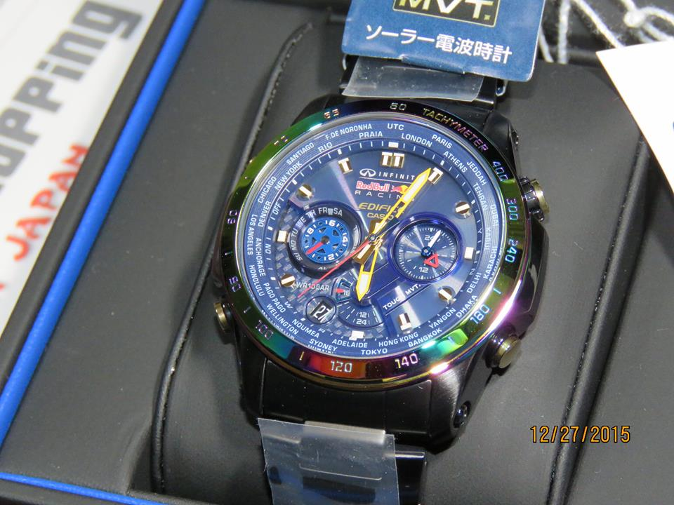 Edifice EQW-T1010RB-2AJR Limited Edition 2015 Red Bull Racing