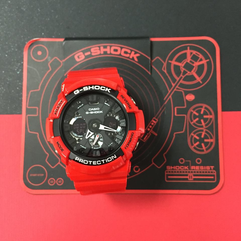 [Live Photos] G-Shock GA201RD-4A Red Power