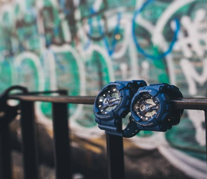 [Live Photos] BABY-G Denim Collection BA-110DC with Street Graffiti