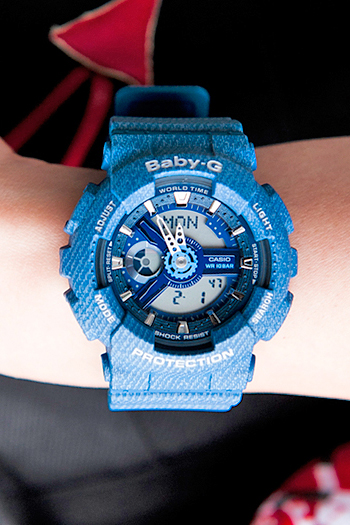 [Live Photos] Baby-G BA-110DC-2A2 Denim Texture