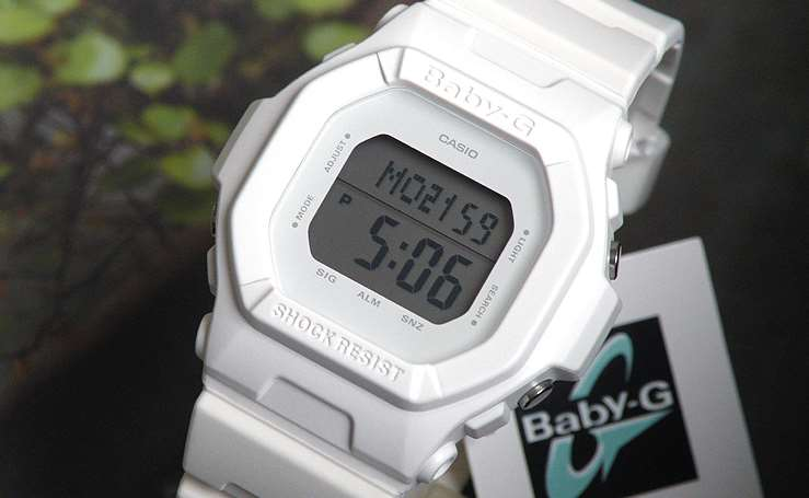 [Live Photos] Baby-G BG-5606-7 Solid White Color