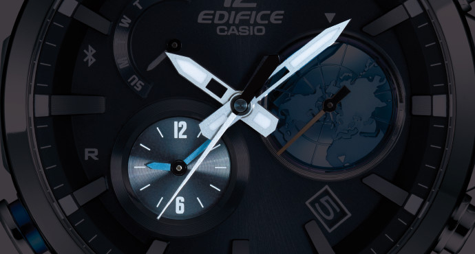 [Live Photos] Edifice EQB-600 with 3D GLOBE DIAL Functions