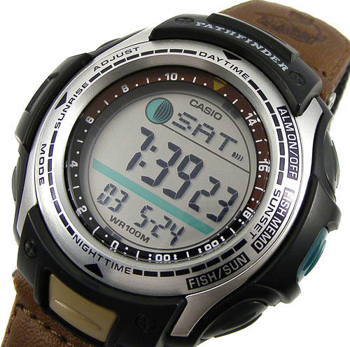 Protrek pas 400 with moon and sun data for Casio pathfinder fishing watch
