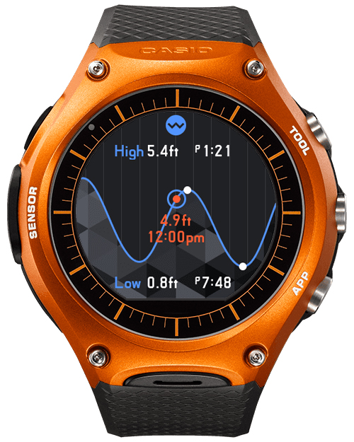[Smartwatch] Casio WSD-F10 — Tide Graph