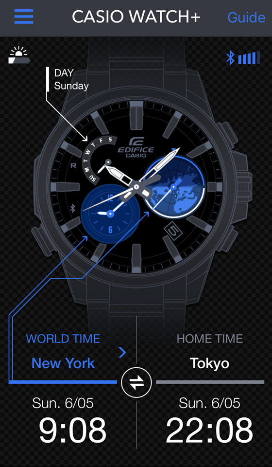 [Live Photos] Edifice EQB-600 in cooperation with CASIO WATCH + app