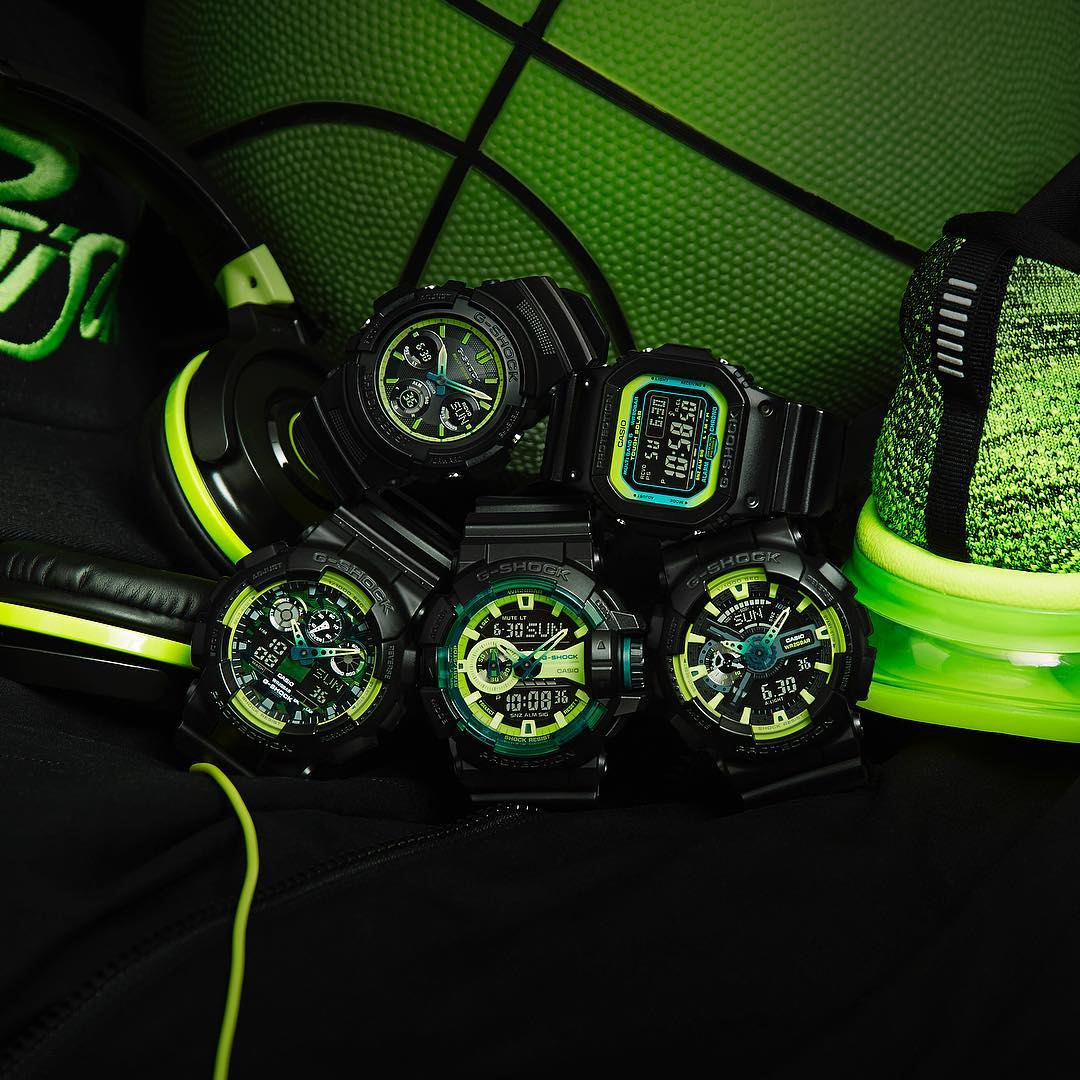 [Live Photos] G-Shock Lime Accent Color Series
